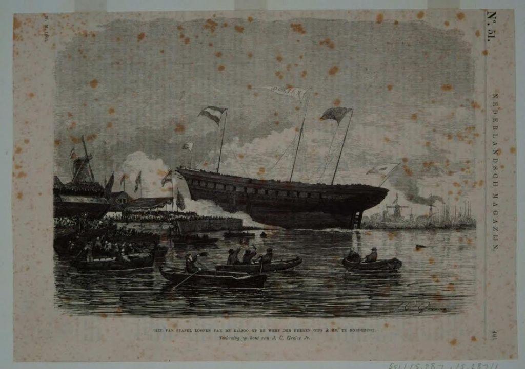 Tewaterlating Kaiyo Maru (Regionaal Archief Dordrecht)