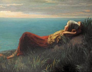 Jozef Israëls – Dromen, 128,5 x 201,2 cm, 1859, olieverf op doek. Particuliere collectie.
