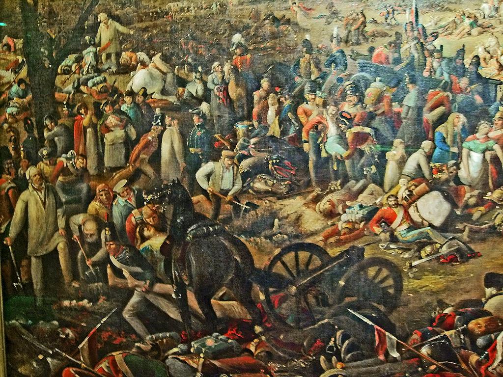 De ochtend na de Slag bij Waterloo - John Heaviside Clark, 1816