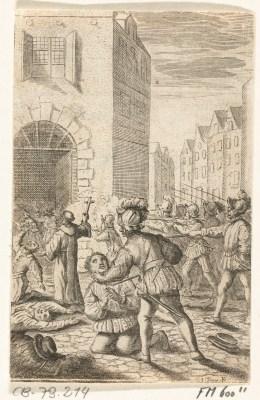 De Spanjaarden richtten een slachting aan