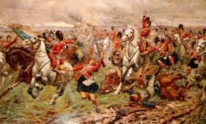 Uitbraak van de Royal Scots Greys, tijdens de Slag bij Waterloo - cc