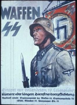 Propaganda-affiche voor de Waffen SS. Datum onbekend. - cc