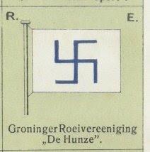 Vlag van de Groninger roeivereniging De Hunze