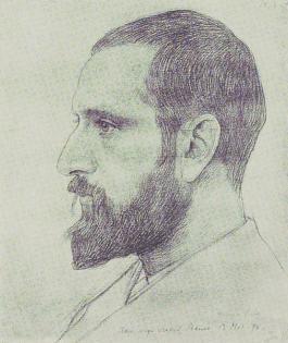 Marius Bauer getekend door Jan Veth (1894)