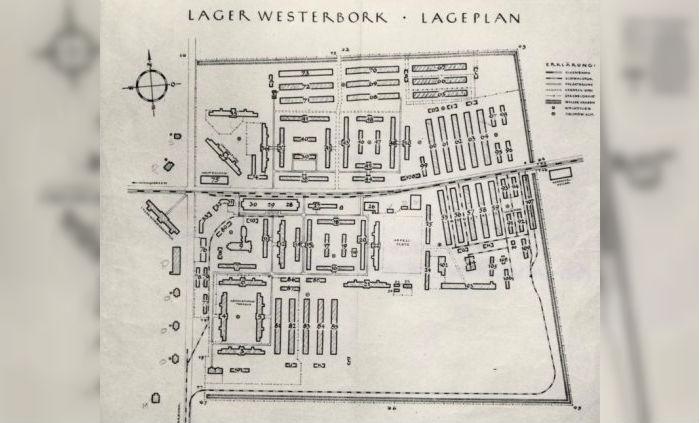 Plattegrond van Kamp Westerbork