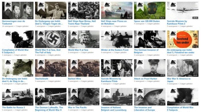 Voorbeelden van documentaires die via het kanaal te bekijken zijn