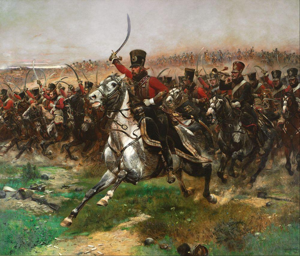 Hussards (foto: wiki-Google Art Project. Doek van Edouard Detaille)