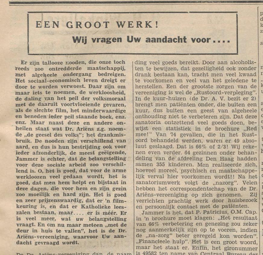 ...uit Graafse Courant, 10 november 1937...