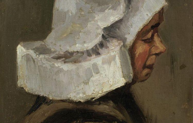 'Hoofd van een boerin, profiel naar rechts' - Vincent van Gogh
