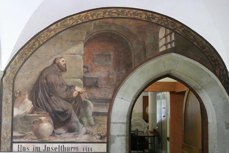 Muurschildering in het Dominikaner klooster in Konstanz – foto Ingeborg Kriegsman