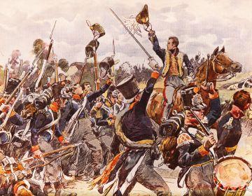 Nederlandse miliciens bij Quatre Bras
