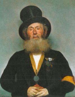 Portret door Petrus Marinus Slager van Christianus Matheus Viegers, 1875 (Rijksmuseum Amsterdam)