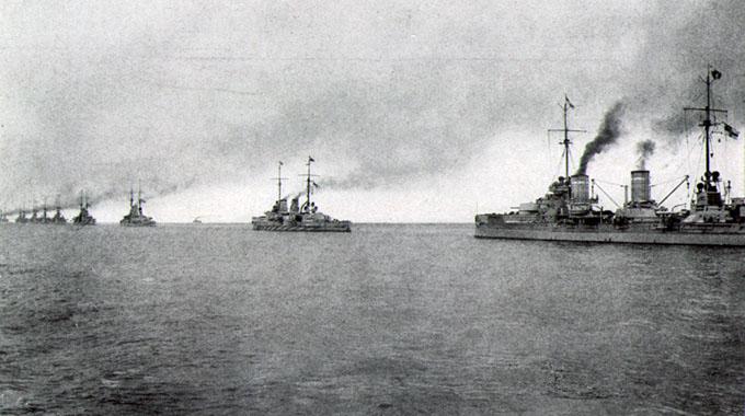 Een eskader van de Duitse Hochseeflotte