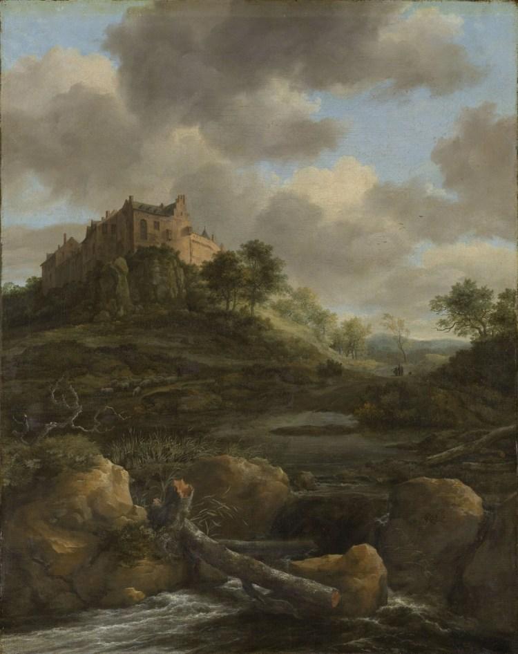 Kasteel Bentheim Jacob Isaacksz. van Ruisdael, 1650 - 1682 (Rijksmuseum)