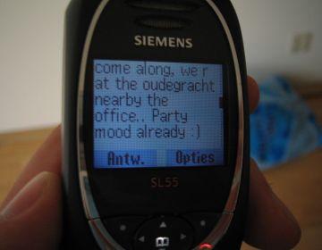 SMS op een mobiele telefoon - cc