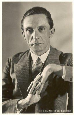 Briefkaart met afbeelding van Joseph Goebbels, ca.1942
