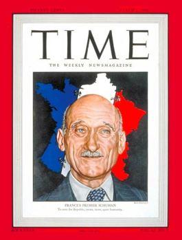 Robert Schuman op de cover van Time Magazine, 1948