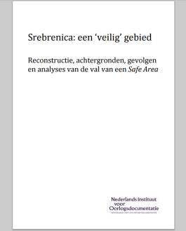 Eerste pagina van het NIOD-rapport