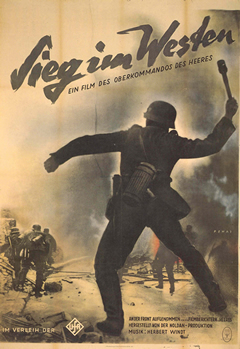 Propagandaposter voor de film 'Sieg im Westen'