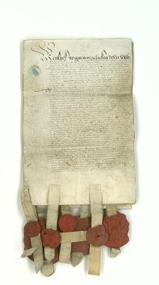 De overeenkomst van 1578 waarmee de Stad Amsterdam zich aansloot bij hetverbond tegen Spanje.