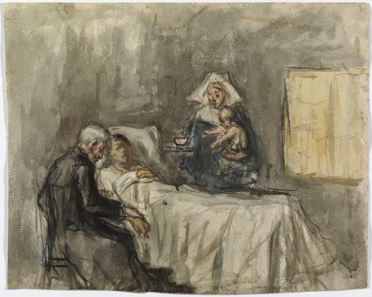 Studie voor 'wetenschapen caritas', Pablo Picasso (1897) - © Succession Picasso - VG Bild-Kunst, Bonn 2015