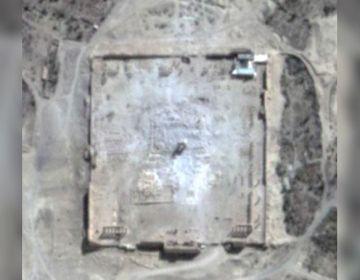 Satellietbeelden van de vernietigde tempel - UNOSAT