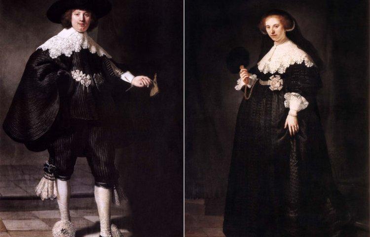 Huwelijksportretten van Maerten Soolmans en Oopjen Coppit (Rembrandt)