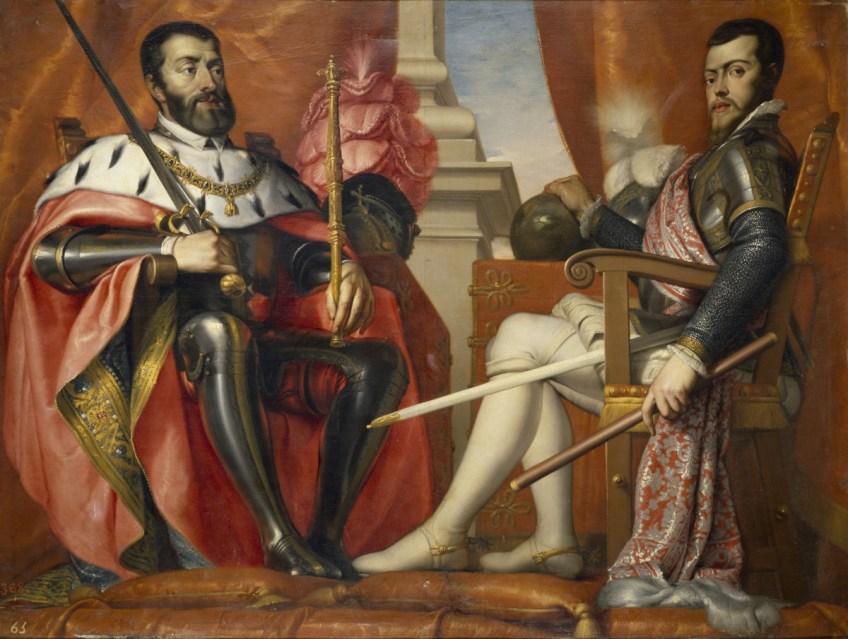 Pal voor het katholicisme: Karel V en zijn zoon Filips II (Antonio Arias Fernández, 1639/40)