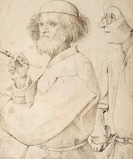 Pieter Bruegel de Oudere, The Painter and the Art Lover (1565, Google Art Project)