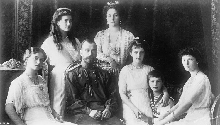Tsaar Nicolaas II en zijn gezin in 1914 - cc
