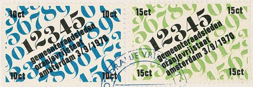 Envelop Oranje vrijstaat (Amsterdam kabouterstad), 1970 (detail)