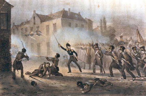 De Prins van Oranje, de latere koning Willem II, voert het Nederlandse leger aan tijdens de Tiendaagse Veldtocht op 3 augustus 1831 (Collectie Regionaal Archief Tilburg)
