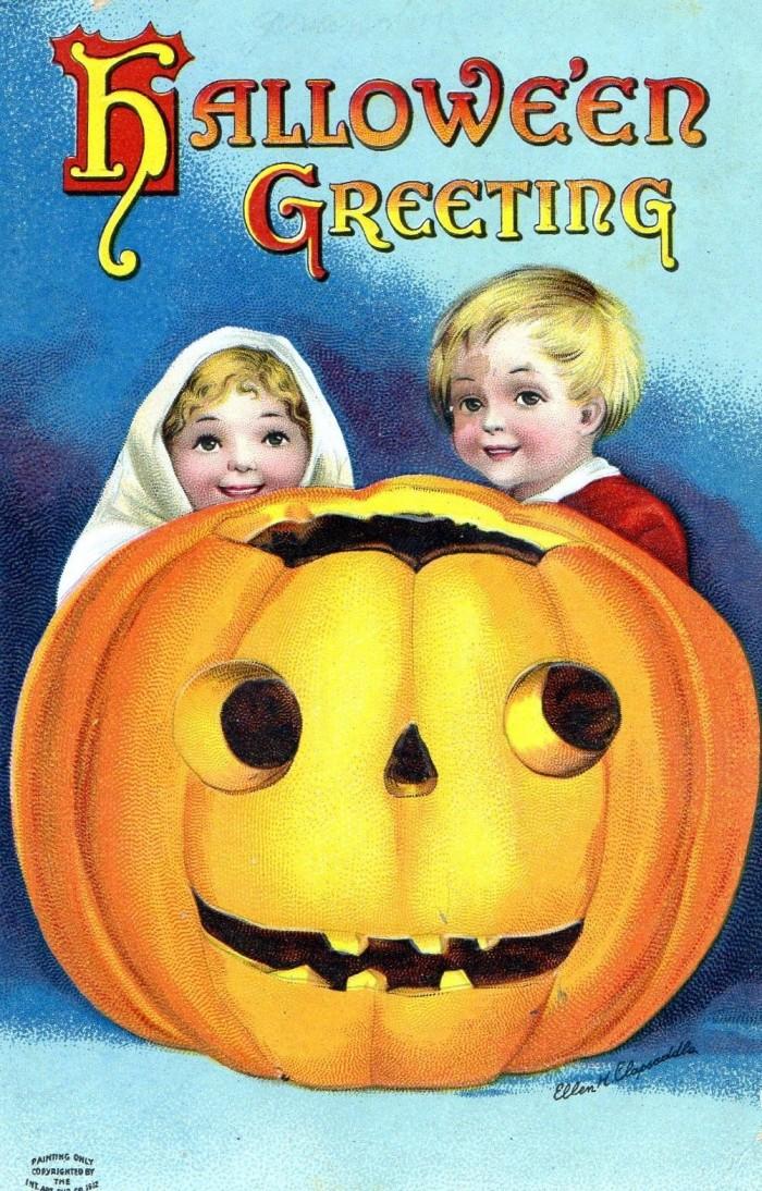 Halloween-groeten, ca. 1950 (eBay)
