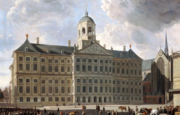 Het Stadhuis omstreeks 1670 door Gerrit Adriaenszoon Berckheyde