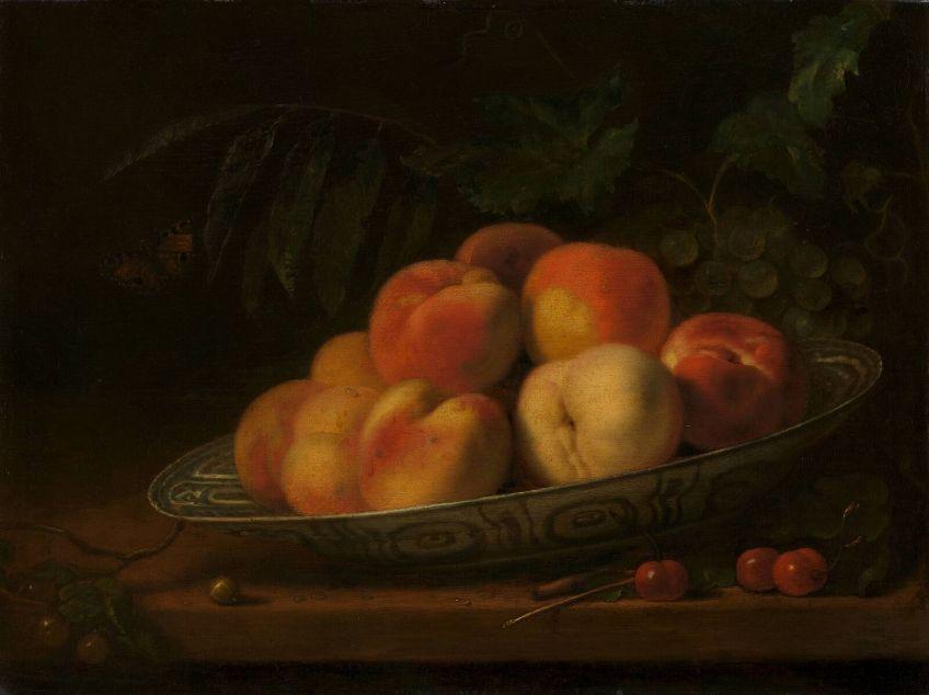 Abraham van Calraet - Schaal met perziken (Boijmans)