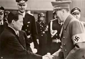 Baron Oshima en Adolf Hitler