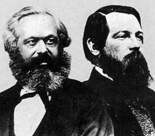 Karl Marx en Friedrich Engels