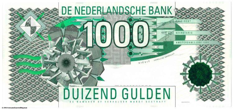 Laatste briefje van 1000 gulden (verzamelaarsveiling.nl)