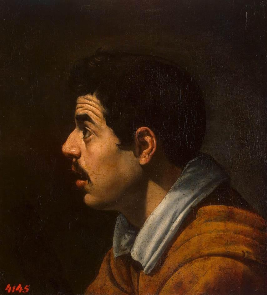 Diego Velázquez de Silva (1599–1660) - Hoofd van een man in profiel, ca. 1616 (voorzijde) - © State Hermitage Museum, St Petersburg