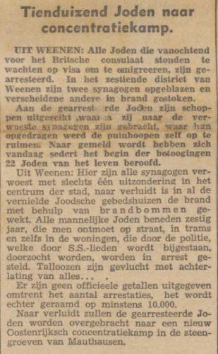 De Banier, 11 november 1938 (Delpher)