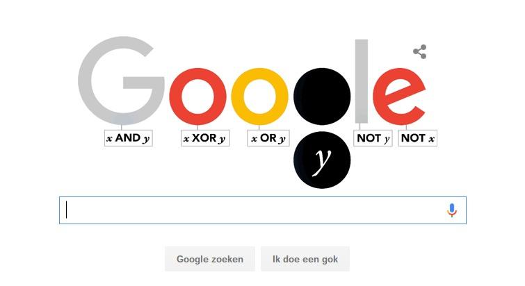 Google Doodle voor George Boole
