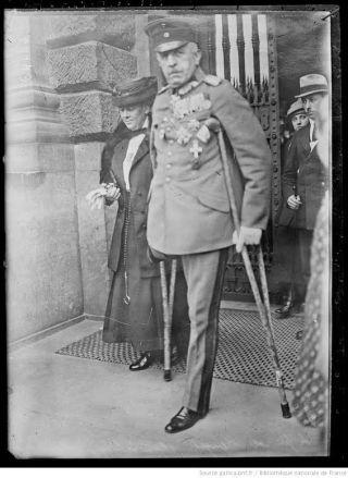Karl Stenger (1859-1928) tijdens de Leipziger Processen in 1921. Bron 14-18.brive.fr