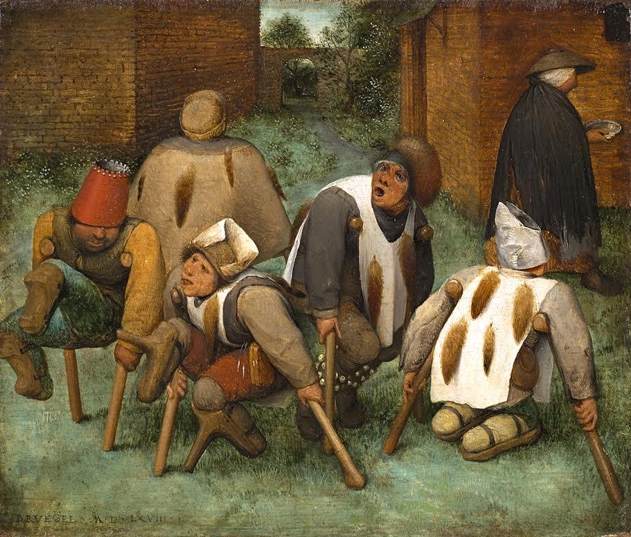 """Schilderij Matthias Grünewald, """"De verleiding van St. Antonius"""" (1512) toont iemand met moederkoorn."""