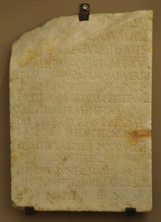 Grafsteen van Q. Aemilius Secundus, die namens Quirinius de bewoners van de Bekaa-vallei registreerde. Dit is opvallend, want dit gebied behoorde niet tot Judea, al behoorde het wel tot de gebieden die door de familie van koning Herodes werd bestuurd. (Museo archeologico nazionale, Venetië)