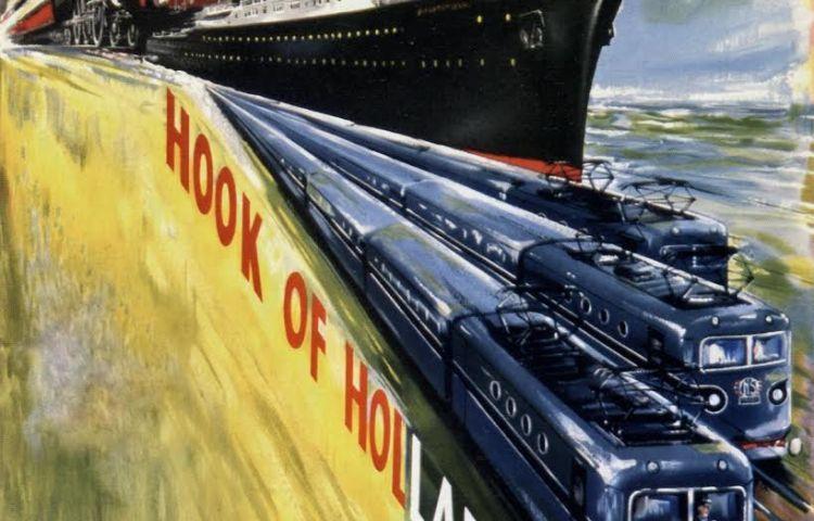 Affiche Harwich-Hook of Holland, Paul Mann, ca. 1954 (coll. Jürgen Klein)