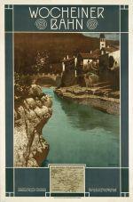 Affiche Wocheiner Bahn door Otto Barth, 1908