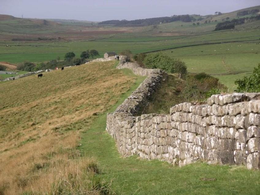 De Muur van Hadrianus in Engeland