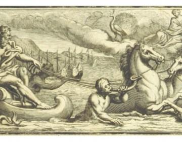 Poseidon - Afbeelding uit een oude uitgaven van de Ilias