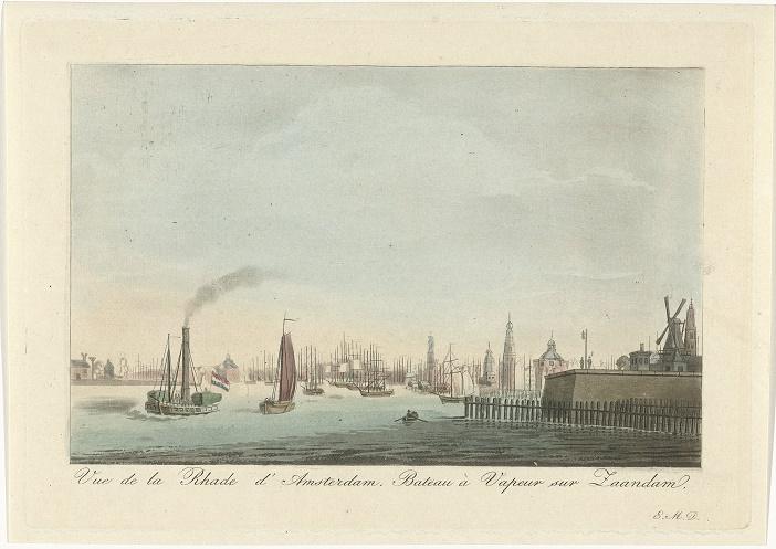 Roelof van der Meulen, Gezicht op de haven van Amsterdam, 1816-1833, Rijksmuseum