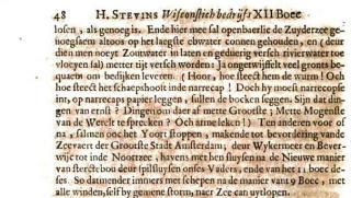Hendrik Stevin over  zijn 'zotte' plannen tot inpoldering van de Nederlandse binnenzeeën en een kanaal van Amsterdam naar de Noortzee.